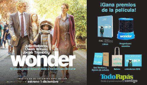 Concurso en Facebook de la película Wonder