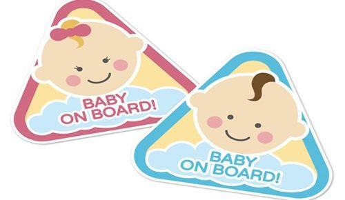 """¿es obligatorio poner la pegatina de """"bebé a bordo""""?"""