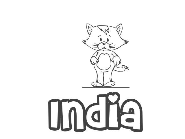 Moderno Bandera De La India Para Colorear Viñeta - Ideas Para ...
