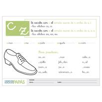 Regla ortografica de la c y la z