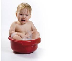 No quiere bañarse