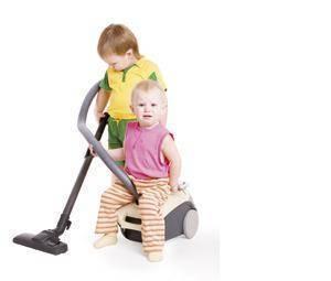 Ayudando en las tareas del hogar