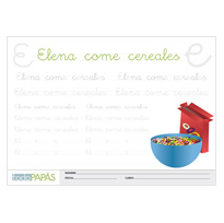 Plantillas elena come cereales