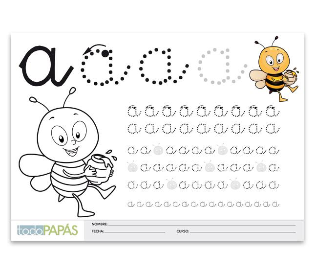 Aprender a escribir y leer la letra a en min sculas for Aprendiendo y jugando jardin infantil
