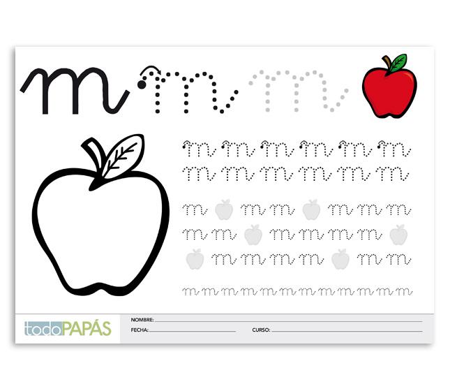Aprender A Escribir Y Leer La Letra M En Minúsculas