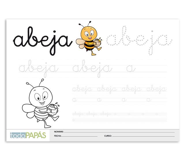 Caligrafía para niños, plantillas para aprender a escribir - TodoPapás
