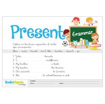 Fichas y ejercicios de gramática de inglés y francés para imprimir y ...