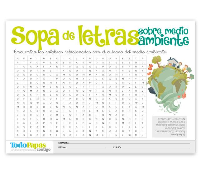 Ficha Para Descargar E Imprimir Sobre El Medioambiente Todopapás