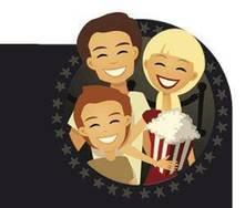 Su primer día en el cine