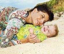 Ir a la playa con un bebé por primera vez