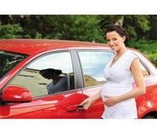 Seguridad al viajar en coche embarazada