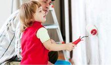 Bebés y olor a pintura, ¿puedo pintar con un bebé en casa?