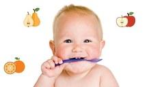 ¿Con cuántos meses comen fruta los bebés?