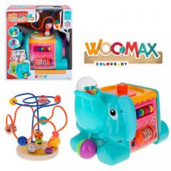 Elefante Actividades Madera 5 en 1 Woomax