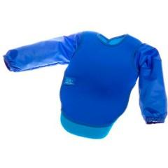 Babero de neopreno con mangas azul de Bibetta
