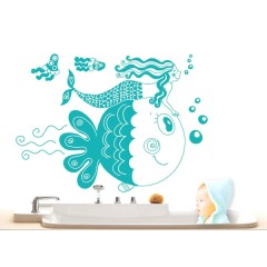 Vinilo Decorativo Sirena de Decora Tu Pared