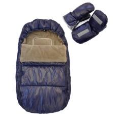 Saco Polar Y Manoplas Azul de Bebemon