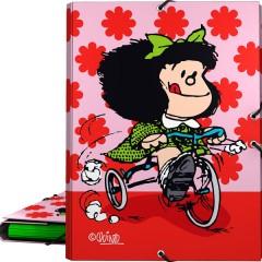 Carpeta 3 Solapas Mafalda Flores de Grafoplas
