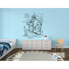 Vinilo Decorativo Garfield Pirata de Vinilos con Arte