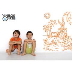 Vinilo decorativo Bugs Bunny de Vinilos con Arte