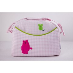 Bolso maternal Kitty rosa belino