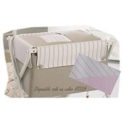 Minicuna tijera blanca Capri rosa de belino