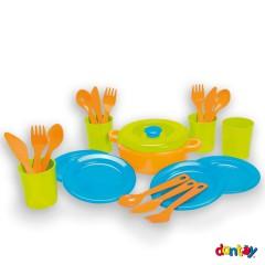 Juego vajilla colores - 4 servicios de Dantoy