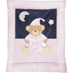 Manta de juego Oso durmiente rosa de Playshoes