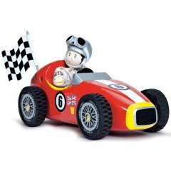 Coche de carreras rojo + budkin