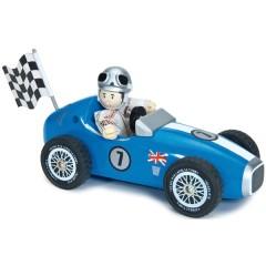 Coche de carreras azul + budkin