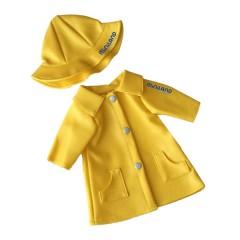 Chubasquero amarillo para muñecos