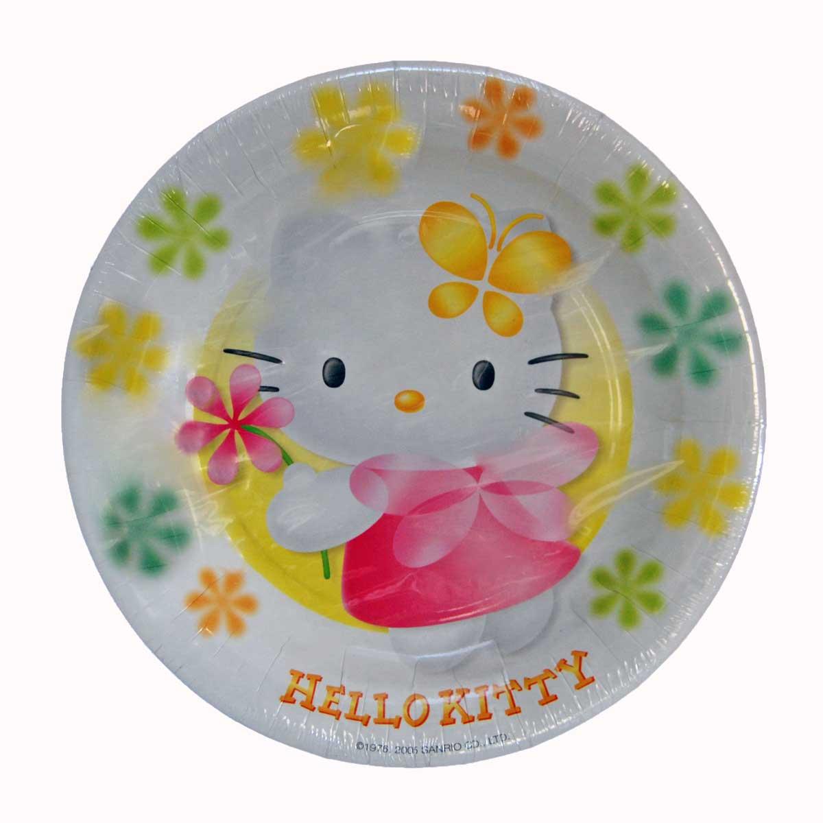 Platos de Cartón Hello Kitty de Todopapás Outlet  TodoPapás