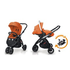 Match 2 Silla Kudu 3 negro + Grupo 0 Sono + Base isofix Flamingo de Casualplay