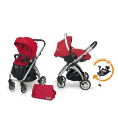 Match 2 Kudu 4 aluminio + Sono + Base Isofix + Bolso raspberry de Casualplay