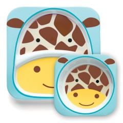 Vajilla Infantil Zoosets Girafe de Skip Hop