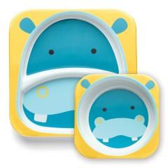Vajilla Infantil Zoosets Hippo de Skip Hop