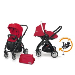Match 2 Kudu 4 negro + Sono + Base Isofix + Bolso Raspberry de Casualplay