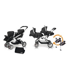 Match 2 Stwinner + Sono + Base isofix + Bolso Graphite de Casualplay