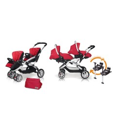 Match 2 Stwinner + Sono + Base isofix + Bolso Raspberry de Casualplay