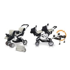 Match 2 Stwinner + Baby 0 + Base Isofix + Bolso Ice de Casualplay