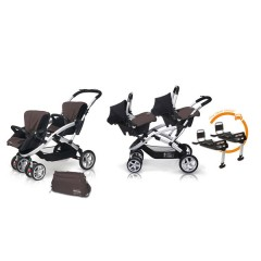 Match 2 Stwinner + Baby 0 + Base Isofix + Bolso Lava Rock de Casualplay