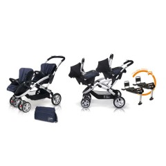 Match 2 Stwinner + Baby 0 + Base Isofix + Bolso Jeans de Casualplay