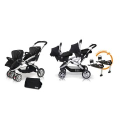 Match 2 Stwinner + Baby 0 + Base Isofix + Bolso Graphite de Casualplay