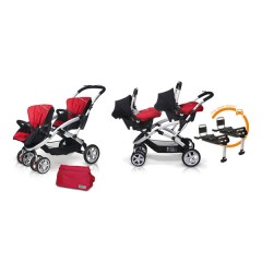 Match 2 Stwinner + Baby 0 + Base Isofix + Bolso Raspberry de Casualplay