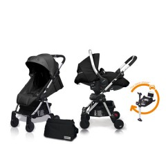 Match 2 Livi + Sono + Base Isofix + Bolso Graphite de Casualplay
