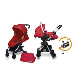 Match 2 Livi + Sono + Base Isofix + Bolso Raspberry de Casualplay