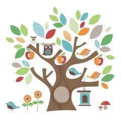 Vinilo Autoadhesivo Treetop Friends de Skip Hop