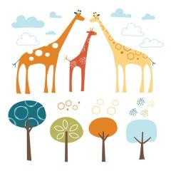 Vinilo Autoadhesivo Giraffe Safari de Skip Hop