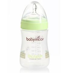 2 biberones Bioteet 230 ml verde de Babymoov
