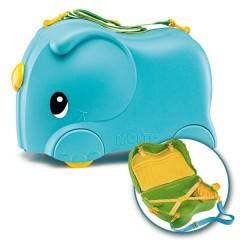 Maleta correpasillos Elephant Azul de Moltó